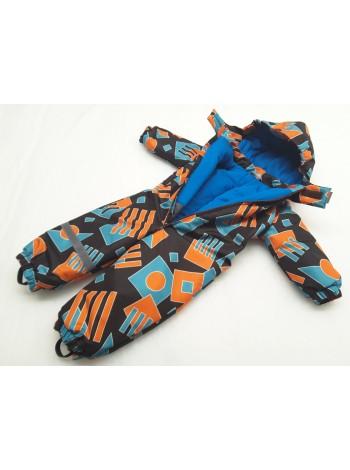 Комбинезон демисезонный цвет: Геометрик оранж