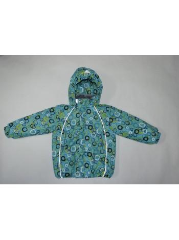 Куртка демисезонная цвет: зеленый принт