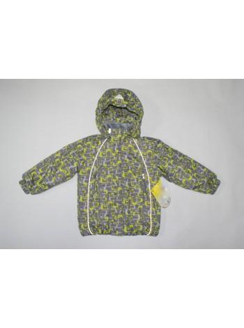 Куртка весна/осень цвет: серый с зеленым