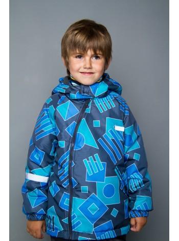 Куртка демисезонная цвет: Геометрик серый