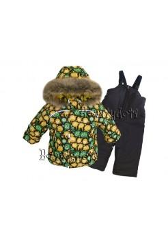 Костюм зимний мембранный цвет: Зеленый с желтым лайк