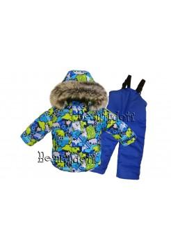 Костюм зимний мембранный цвет: Медведи синий/синий.пк
