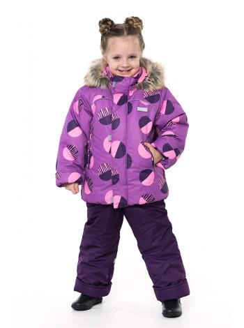Костюм зимний мембранный цвет: Фиолетовые шары