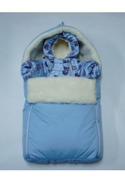 Комбинезон+теплый конверт зимний цвет: Голубой мишки