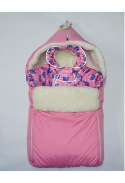 Комбинезон+теплый конверт зимний цвет: Розовый мишки
