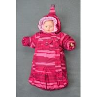 Детский комбинезон-трансформер для новорожденных осень/зима/весна цвет: Бордовая полоса