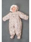 Детский комбинезон-трансформер для новорожденных осень/зима/весна цвет: Мишки бежевый