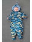 Детский комбинезон-трансформер для новорожденных осень/зима/весна цвет: Оранжев.волна