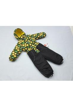 Комбинезон зимний цвет: Зеленый с желтым лайк