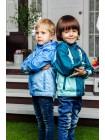 Ветровка, цвет: ультрамарин -неб.голубой -св. серый