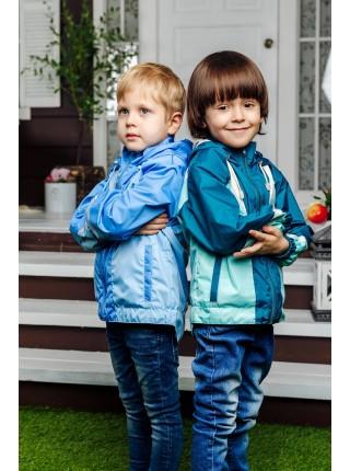 Ветровка цвет: Ультрамарин -неб.голубой -св. серый
