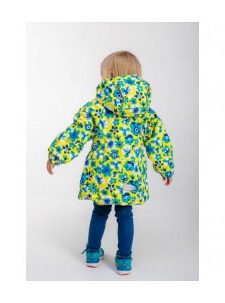 Куртка демисезонная цвет: Цветы желтый