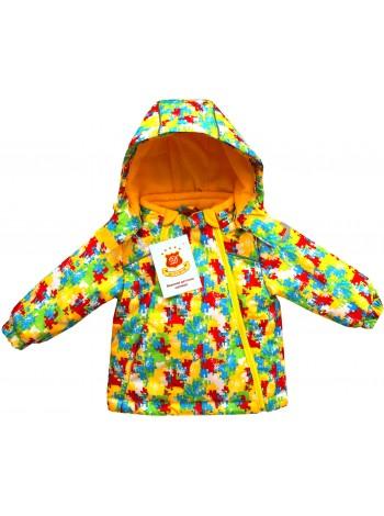 Куртка демисезонная цвет: принт пазл желтый