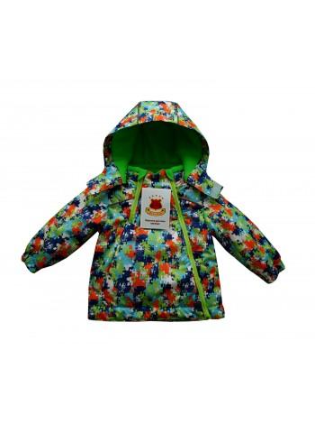 Куртка демисезонная цвет: принт пазл синий