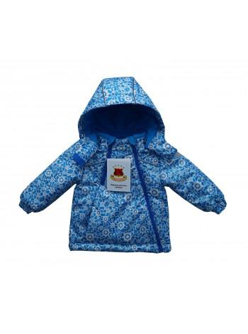 Куртка демисезонная цвет: принт робот синий