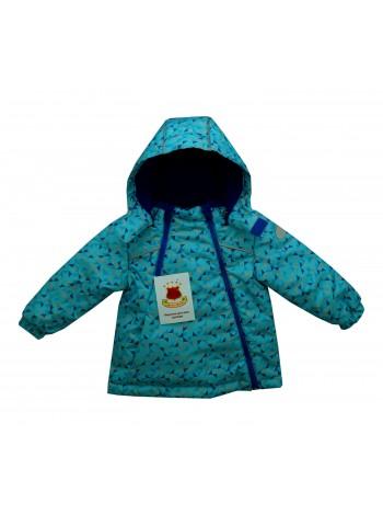 Куртка демисезонная цвет: принт треугольник бирюза