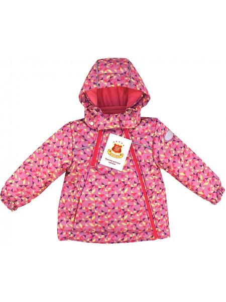 Куртка демисезонная цвет: Принт треугольник сирень