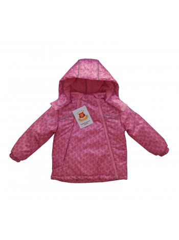 Куртка демисезонная цвет: принт цветы розовый