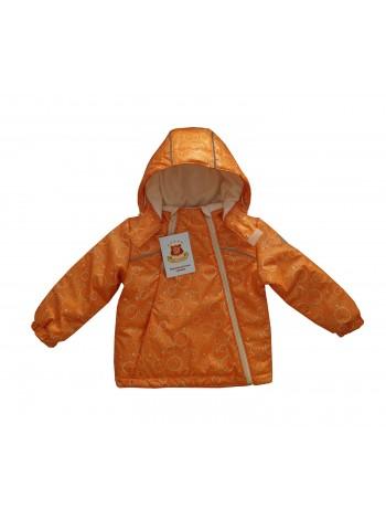 Куртка демисезонная цвет: принт циферблат оранж