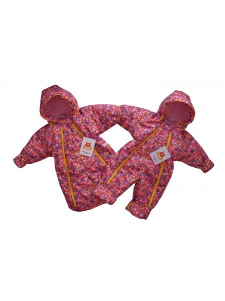 Комбинезон-трансформер цвет: Принт звери-розовый