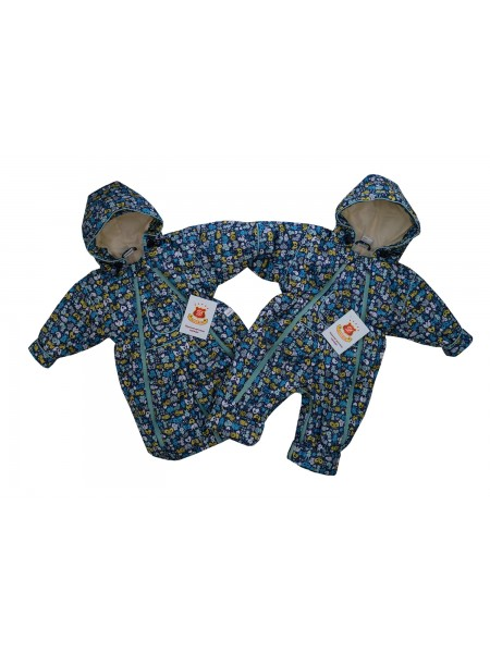 Комбинезон-трансформер цвет: Принт звери-т.синий