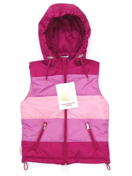 Жилетка цвет: Фуксия-сиреневорозовый-неж.розовый