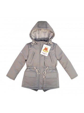 Куртка-парка весна/осень цвет: серый