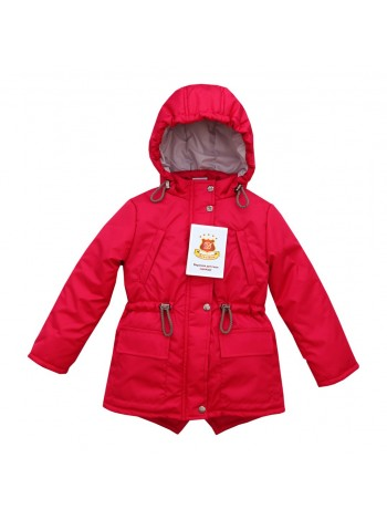 Куртка-парка весна/осень цвет: Малина