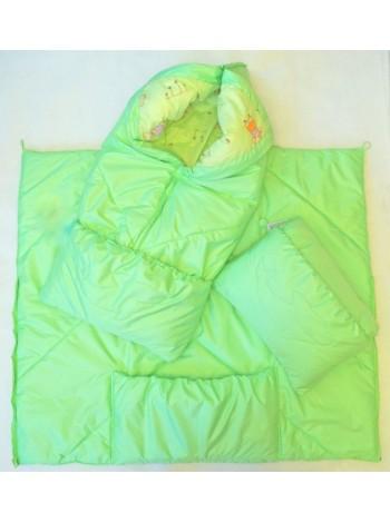 Конверт-одеяло, цвет: салатовый