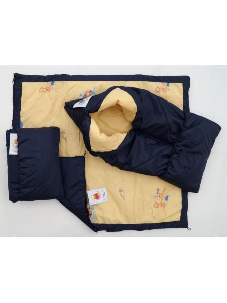 Конверт-одеяло цвет: Т. синий