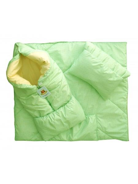 Конверт-одеяло цвет: Принт игрушки салатовый