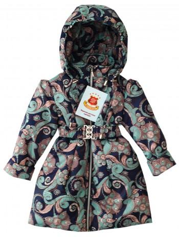 Пальто демисезонное цвет: Принт узоры бежевый