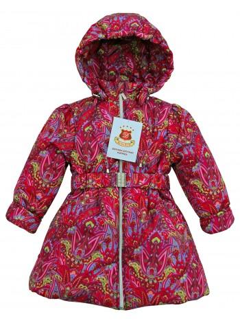 Пальто демисезонное цвет: Принт кукумбер малина
