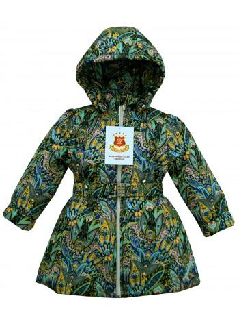 Пальто демисезонное цвет: Принт кукумбер синий