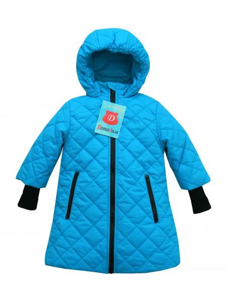 Пальто демисезонное цвет: Бирюза