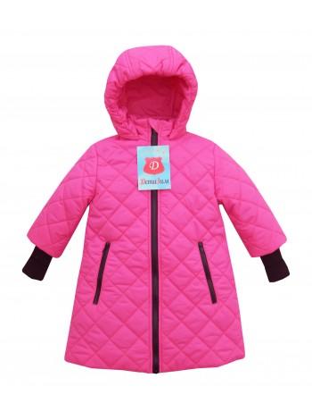 Пальто демисезонное цвет: Ярко-розовый
