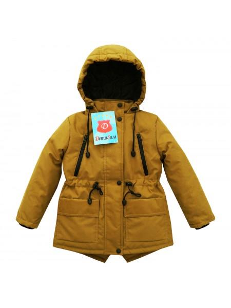 Куртка-парка весна/осень цвет: Горчица
