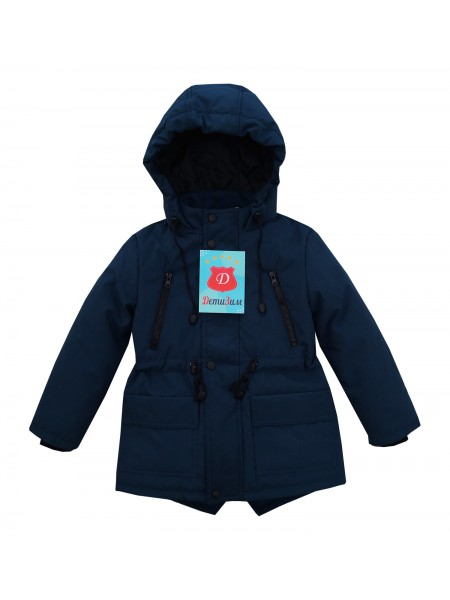 Куртка-парка весна/осень цвет: Т. синий