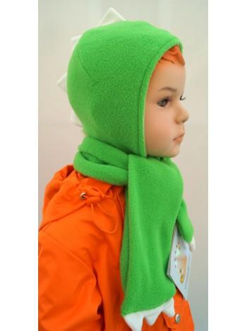 Комплект ШАПКА + ШАРФ цвет: зеленый