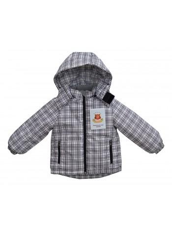 Куртка демисезонная цвет: Принт клетка черно-белая