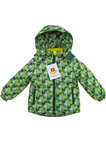 Куртка демисезонная цвет: Клетка т. зеленая