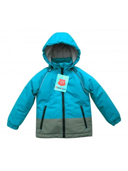 Куртка демисезонная цвет: Бирюза серый