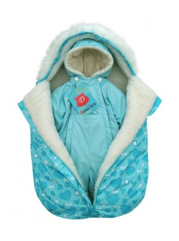 Комплект зимний цвет: Ментол/сердечки ментол