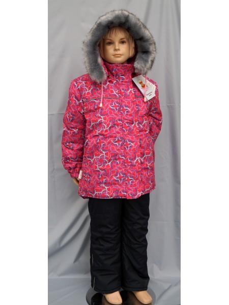 Куртка зимняя цвет: Принт вихри малина