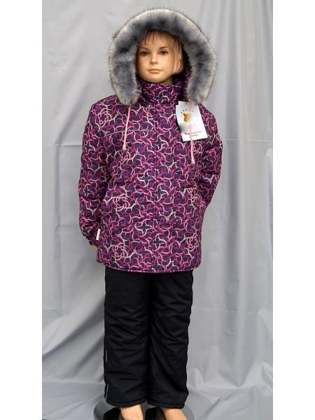 Куртка зимняя цвет: Принт вихри баклажан