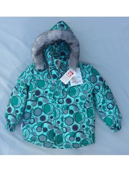 Куртка зимняя цвет: Принт круги св.бирюза