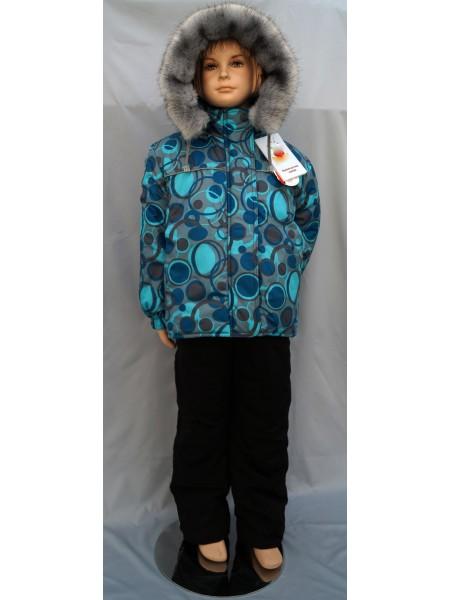 Куртка зимняя цвет: Принт круги серый