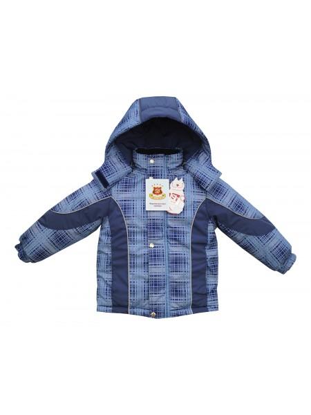 Куртка зимняя цвет: Принт клетка синий