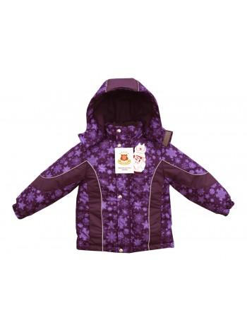 Куртка зимняя цвет: Принт снежинки фиолетовый