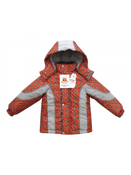 Куртка зимняя цвет: Принт шары терракот